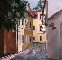 Raslovka street in Prague
